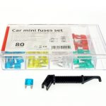 Car blade fuses mini box 80 pcs MIX 02225 1