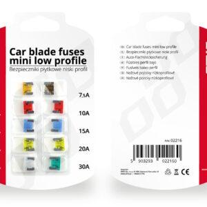 Car blade fuses mini low profile 10 pcs 02216