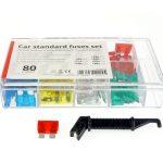 Car blade fuses standard box 80 pcs MIX 02224 1