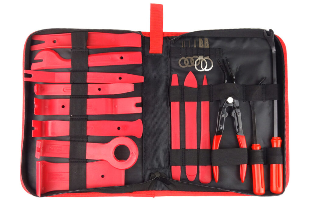 Clip Radio Upholstery Removal Tool Kit 19 pcs with bag 02419 1