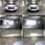 Audi A4 B6 Osram LEDriving H7 gen2 low beam + EK V12 H7 high beam + W5W SMDx5 LED position lights collage