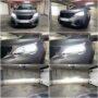 Peugeot 3008 FL Osram Night Breaker LED H7 low beam + V12 HB3 high beam collage