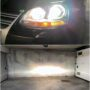 VW Jetta 5 with Osram D2S Cool Blue Intense Xenarc xenon low & high beam + Osram Cool Blue Intense H7 high beam collage 2