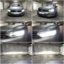 VW Passat B8 with Philips Ultinon Pro6000 LED H7 low beam + V10 LED H9 high beam collage