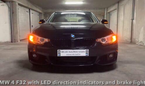 BMW 4 F32 sa plug & play PY24W i P21W LED žmigavcima i H21W LED štop svjetlima