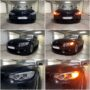 BMW 4 F32 with PY24W High Power SMD LED front direction indicators collage
