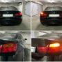 BMW 4 F32 with orange P21W Osram LEDriving SL LED rear direction indicators collage