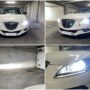 Lancia Delta with H7 V6 projector LED kit collage