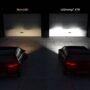 Light Comparison Garage Wall Non LED vs LEDriving XTR