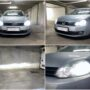 VW Golf VI with Osram Night Breaker LED H7 64210DWNB low beam + adapters 64210DA07 + LED W5W position bulbs collage