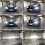BMW F30 with Osram LEDriving XTR H7 low beam + V12 H7 high beam + H6W CANBUS position lights collage