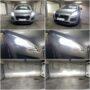Peugeot 3008 MK1 Osram LEDriving XTR H7 low beam + V12 HB3 high beam collage