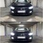 VW Passat B8 with Osram LEDriving XTR H7 low beam + Osram LEDriving FL LED fog lamps collage
